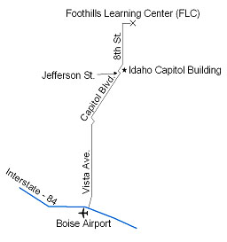 map to Foohills Learning Center